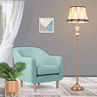 Floor Lamp Crystal Style led Floor Lamps with Antique Brass Tall lamp Pole lamp, Large Lampshade, Berg Crystal Floor Lamps for Living Room, bedrooms, Office