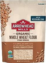 Arrowhead Mills Organic Stone Ground Whole Wheat Flour, 22 oz. Bag (Pack of 6)