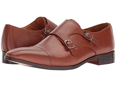 CARLOS by Carlos Santana Passion Double Monk Strap (Tan Full Grain Calfskin Leather) Men