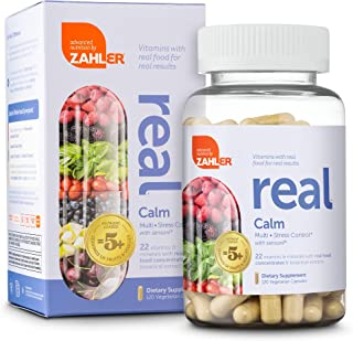 Zahler Real Calm Multivitamin, Stress Relief Supplement in a Real Food Based Multivitamin, 120 Vegetarian Capsules