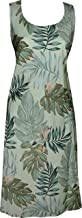 product image for Paradise Found Womens Leaves Short Tank Dress Olive XL