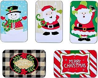 Juvale Assorted Christmas Card Tin Holders Box Set (Set of 5)