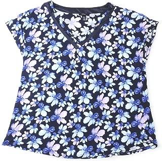 Carole Hochman Midnight Womens Size X-Large Pajama Top, Blue/Multi-Color