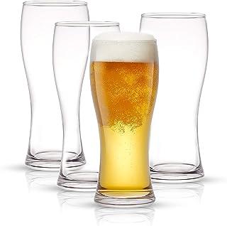 JoyJolt Callen Beer Glasses Set of 4 (FOUR). Pint Glass Capacity, Craft Beer Glass, Pilsner Beer Glass and IPA Beer Glass....