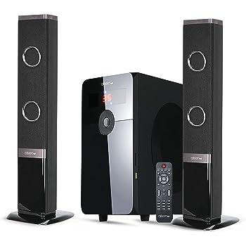 AISEN® 65W RMS 2.1 Channel Convertible Soundbar Multimedia Speaker with USB Input, SD Card Input (Black, A65UFB203)