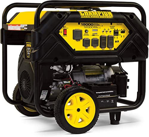 wholesale Champion Power 2021 Equipment 100111 15,000/12,000-Watt Portable Generator with 2021 Electric Start and Lift Hook outlet sale