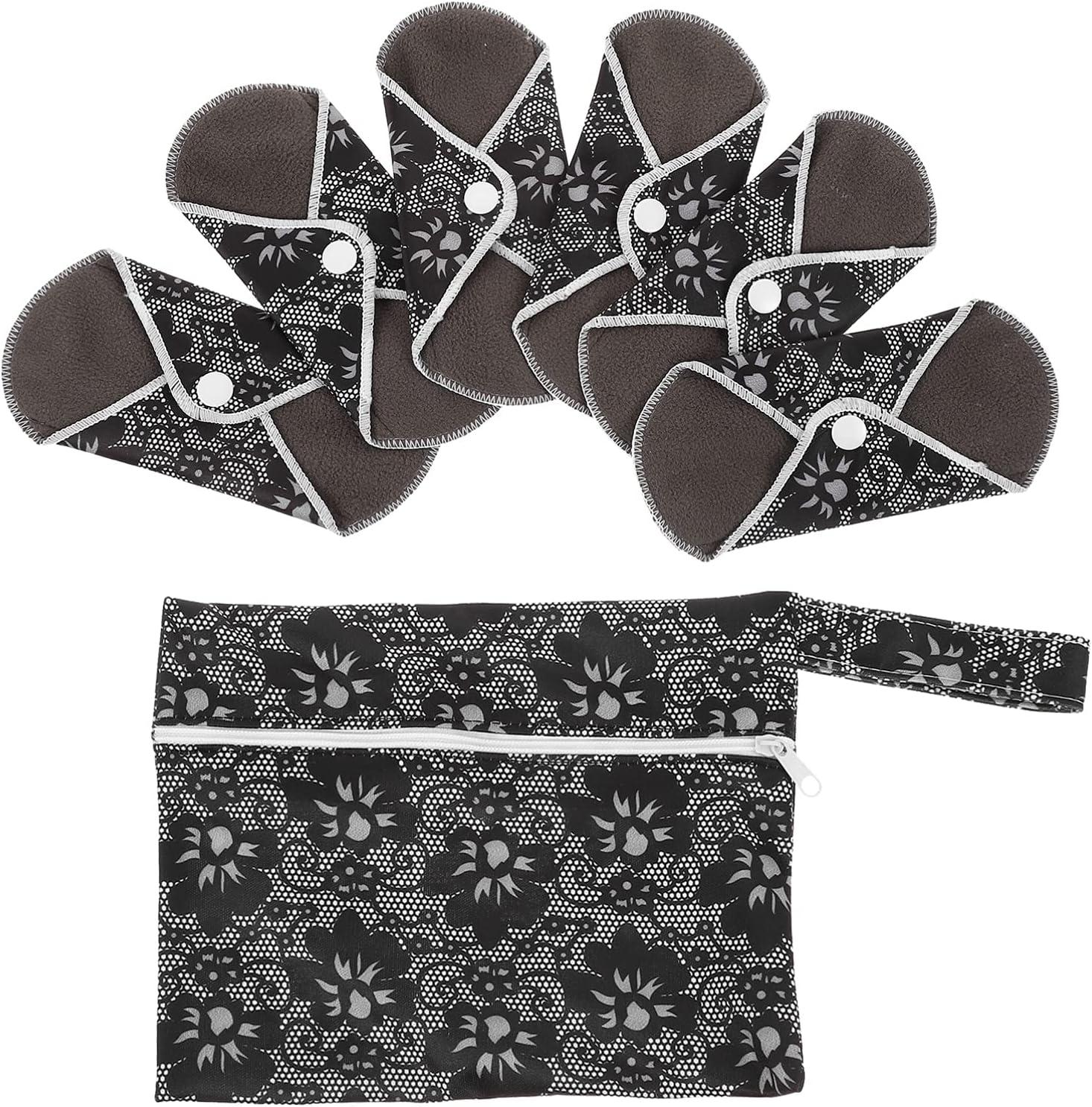 online shop DOITOOL 6 Pcs Reusable Pads Cloth Menstrual Jacksonville Mall Light