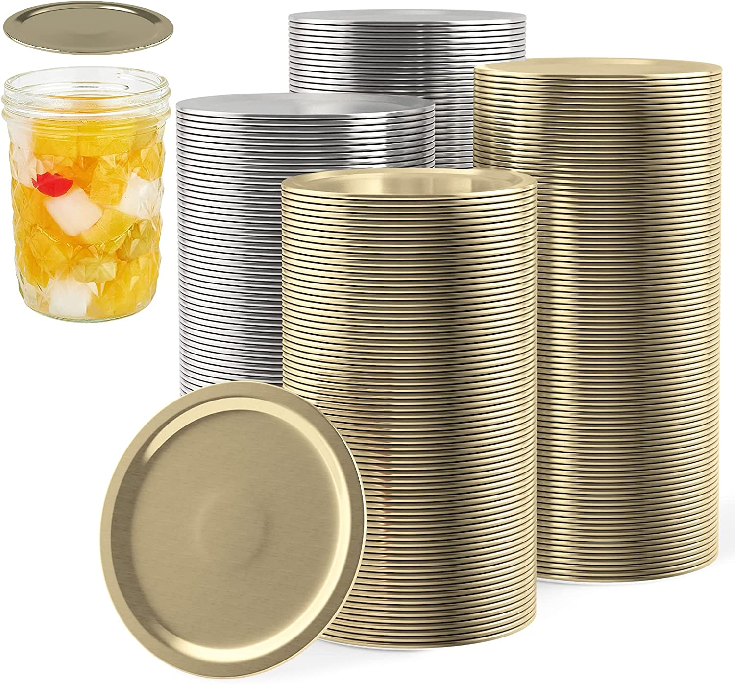 100 Clearance SALE Limited time Sales PCS Wide Mouth Canning Lids Split-Ty Kerr Ball for Jars