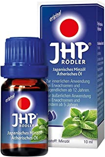 Japanisches Heilpflanzenol (JHP) 10 ml (0.33 oz) Oil by Rodler - Pharmaceutical Grade Mint Oil From Germany - Superior to Regular Peppermint Oil