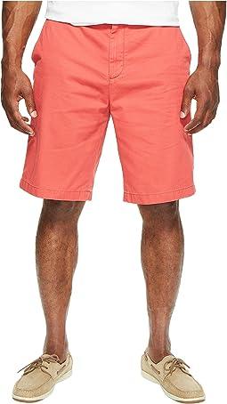 Nautica Big & Tall Big & Tall True Khaki Flat Front Short