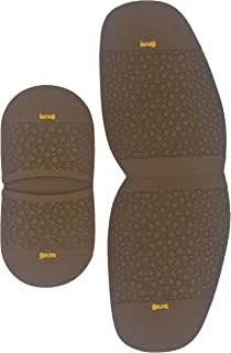 Shoe Repair Replacement Rubber Heels and Half Sole use for ice and Snow,4mm Thickness Half Sole and 7mm Heels, Different Colors (Khaki)