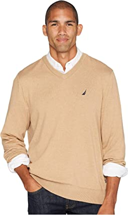 12 Gauge Jersey V-Neck Sweater