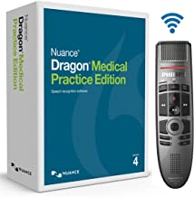 Nuance Dragon Medical Practice Edition 4 with Philips SMP4000 SpeechMike Air Wireless Dictation Microphone