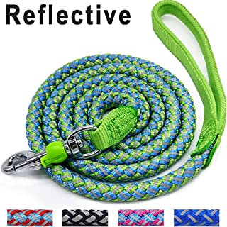 Mycicy Rope Dog Leash - 6 Foot Reflective Dog Leash - Mountain Climbing Nylon Braided Heavy Duty Dog Training Leash for Large and Medium Dogs Walking Leads