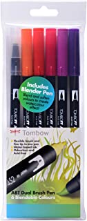Tombow : Dual Brush Pens : Sunset Colours : Pack of 6