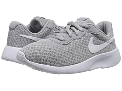 Nike Kids Tanjun (Little Kid) (Wolf Grey/White/White) Boys Shoes