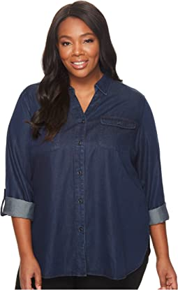 NYDJ Plus Size - Plus Size Denim Shirt with Pockets