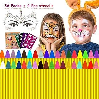 Emooqi Pascua de Resurrección Pintura Facial, 36 Colores