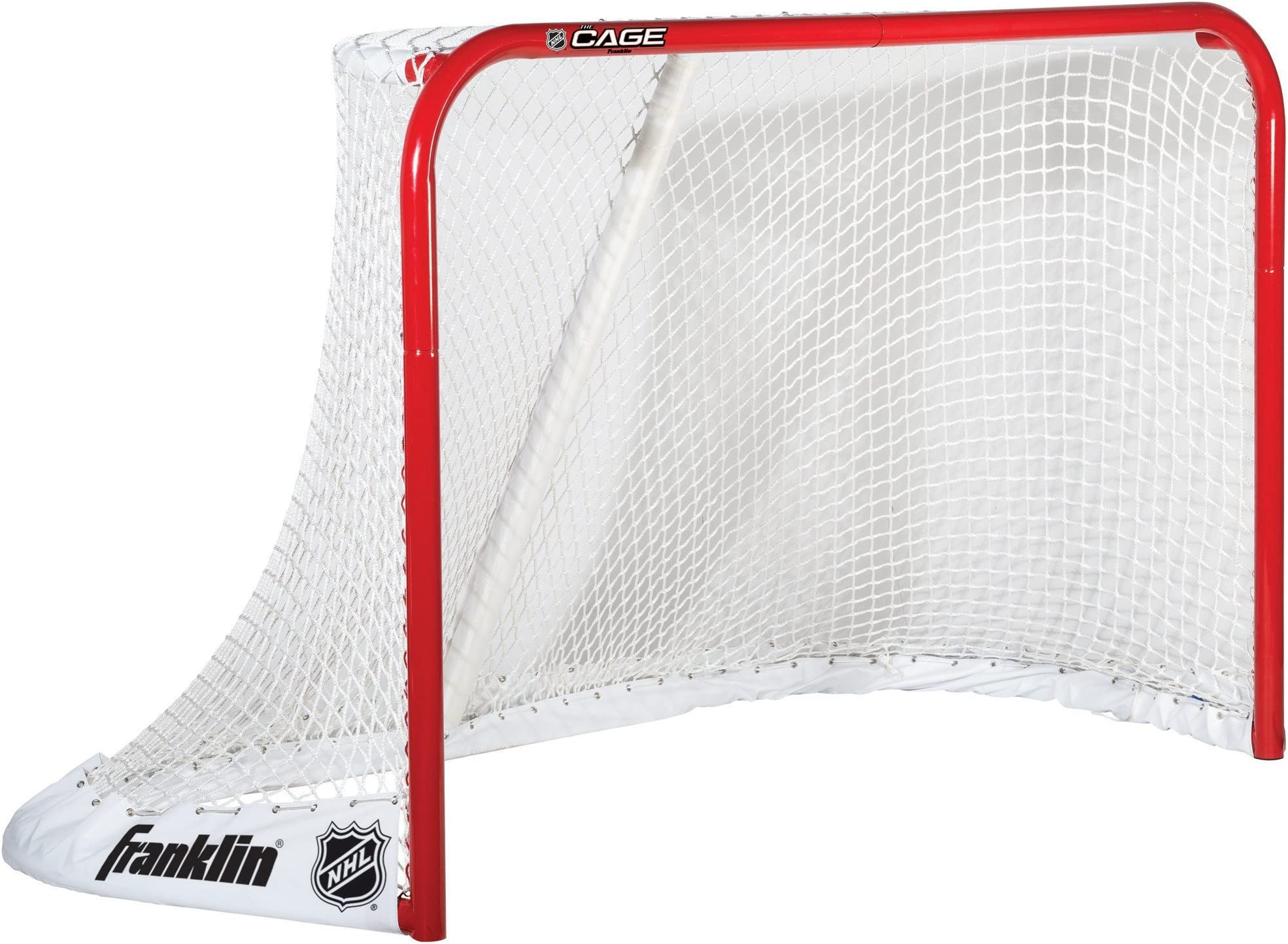 Franklin Sports Hockey Goal — NHL Steel Cage Ice-Hockey Goal — Street-Hockey Goal — Pro-Style Hockey Nets and Goal Set — 72 x 48 Inch