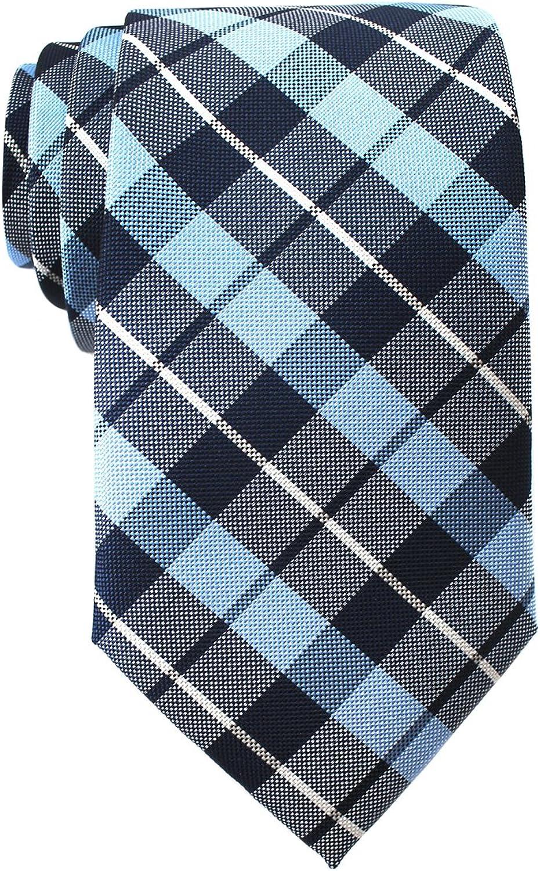 c5ff14c904 Nick Graham Men's 3-in blueee and Black Plaid Plaid Plaid Neck Tie 4d747e