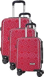 Morgan Kiwano Valise de Voyage Rigide ABS à 8 roulettes pivotantes Set de 3 valises (55 cm 39 litres, 65 cm 62 litres, 75 ...