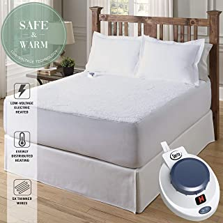 Serta | Luxurious Sherpa Heated Electric Mattress Pad with Safe & Warm Low-Voltage Technology (King)