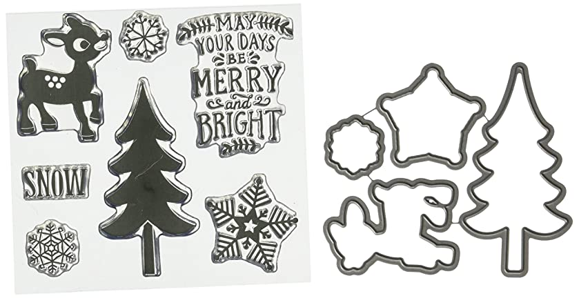 Echo Park Paper Company The Story of Christmas Merry & Bright Die/Stamp Set
