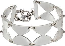 Half Disk Link Bracelet