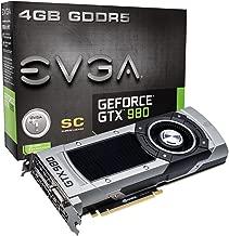 EVGA GeForce GTX 980 4GB SC GAMING, Silent Cooling Graphics Card 04G-P4-2982-KR