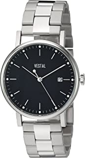 Vestal 'Sophisticate 36 Metal' Swiss Quartz Stainless Steel Dress Watch, Color Silver-Toned (Model: SP36M01.3SVX)