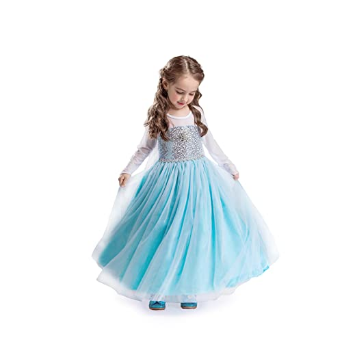 06cbbd9fa3e50 UK1stChoice-Zone UK Girls Snow Queen Princess Costume Party Outfit Cosplay  Clothes Fancy Dress FR200