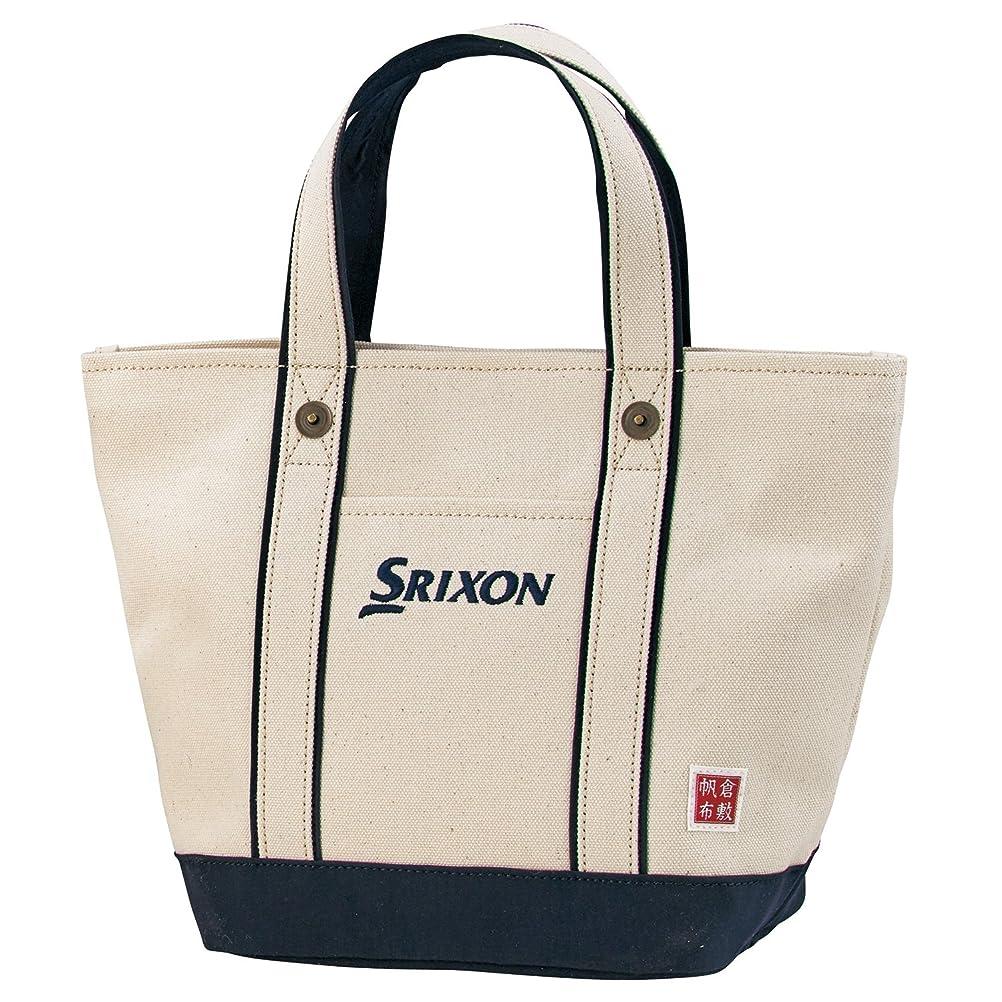 ハシージェム大事にするDUNLOP(ダンロップ) SRIXON 帆布ラウンドトートバッグ  GGF-B4008 ネイビー