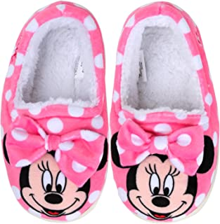 Joah Store Slippers for Girls Minnie Mouse Warm Fur Indoor Pink Shoes