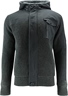 CrossHatch JAMINE MVE CH Diamond QUILTE Men's Transition Jacket with Hood Knitted