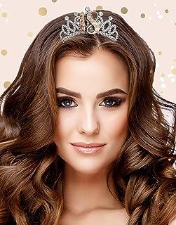 Alandra 生日 TIARA-18 岁生日玫瑰金金属礼盒头饰,奶油色和玫瑰银,均码