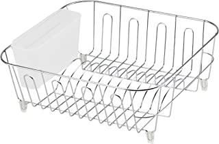 REAL HOME Innovations 12.5 by 14.25 by 5.25-Inch Dish Drainer, Small, Chrome