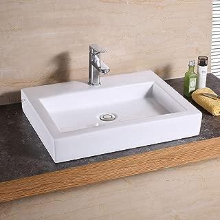 Luxier CS-021 Bathroom Porcelain Ceramic Vessel Vanity Sink Art Basin
