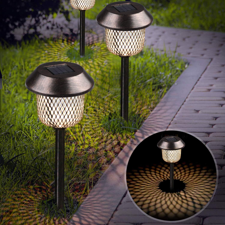 XDDIAS Lámpara solar para jardín, negro: Amazon.es: Iluminación