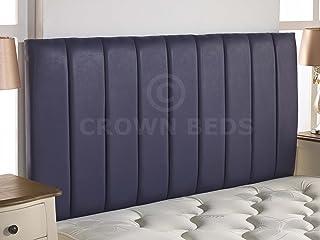 CROWNBEDSUK Quality Apollo Faux Leather HEADBOARD (Purple, 6ft Super Kingsize)