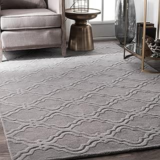 gray and cream area rug