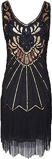Women's Flapper Dress 1920s V Neck Beaded Fringed Great Gatsby Dress