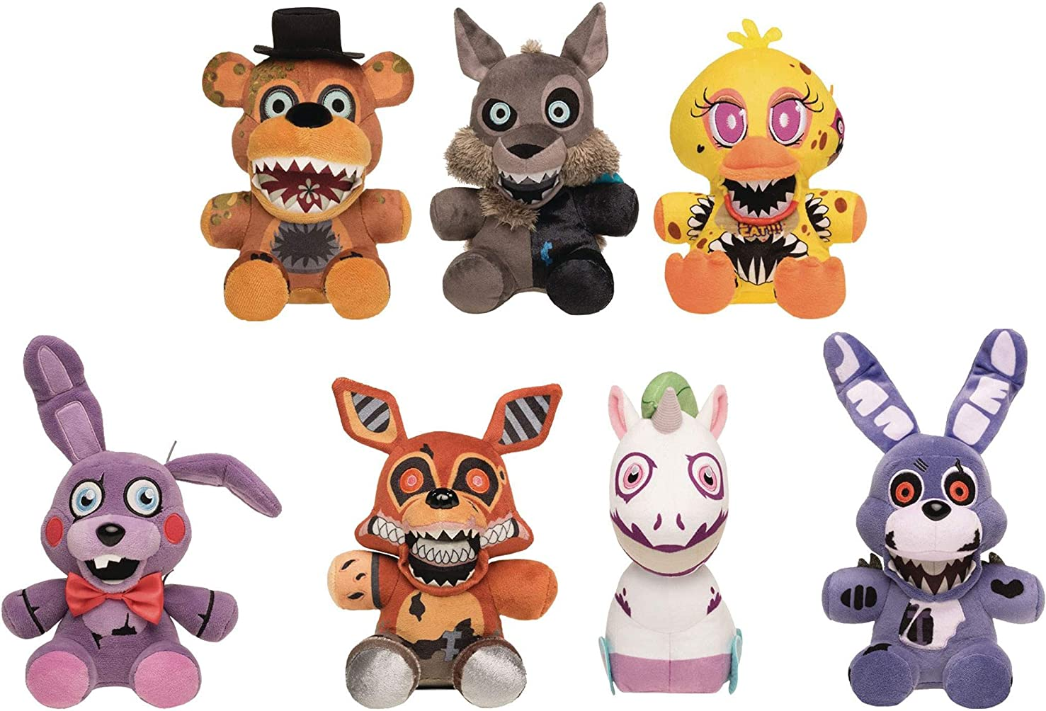 Funko Five Nights at Freddy's Twisted Ones Collectible Plush Figures, 8-inch (Set of 7)