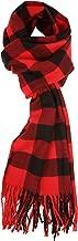 Unisex Warm Soft Cashmere Feel Plaid Fall Winter Scarf