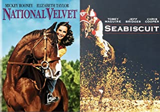 The Ultimate Majestic Horse Bundle Double Feature with Seabiscuit and National Velvet Elizabeth Taylor 2-DVD Classic Movie...