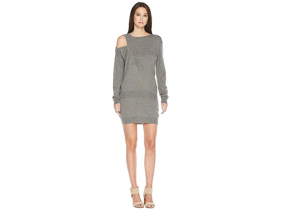 Preen by Thornton Bregazzi Elise Knit Long Sleeve Dress (Grey) Women