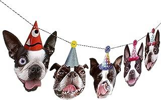 Boston Terrier Garland, dog birthday party decoration