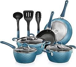NutriChef Nonstick Cookware Excilon | Home Kitchen Ware Pots & Pan Set with Saucepan, Frying Pans, Cooking Pots, Lids, Ute...