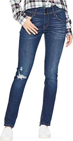 Collin Mid-Rise Skinny Jeans in Destructed Popular