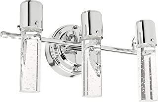 Westinghouse Lighting, Chrome 6311900 Cava Three-Light LED Indoor Wall Fixture, Finish with Bubble Glass