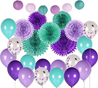 Mermaid Party Supplies, Perfect for Mermaid Party Decorations and Mermaid Birthday Party Supplies, Under the Sea Decorations, Complete 30 Piece Set by Marketplace Essentials